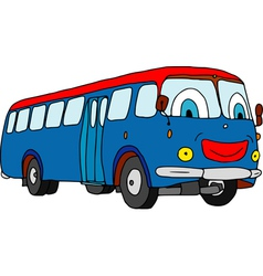 Bus smile vector