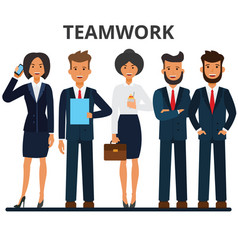 business team teamwork a group of businesspeople vector image
