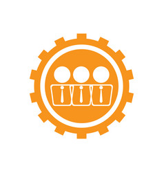 businessmen on a gear icon vector image