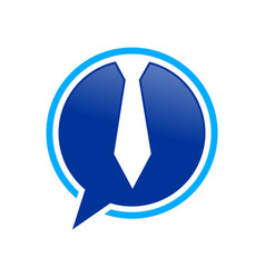 ceo talk bubble chat blue symbol design vector image