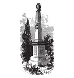 chaunceys monument vintage vector image
