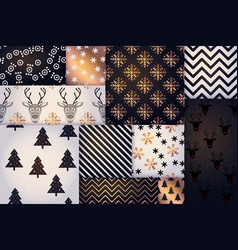 christmas pattern happy winter holiday tile vector image