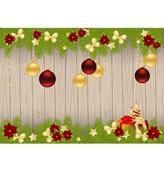 christmas pine frame 1611 01 vector image