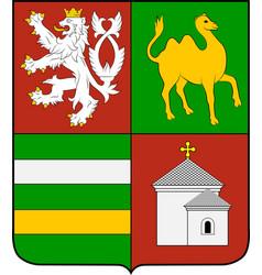 Coat arms plzen region in czech republic vector