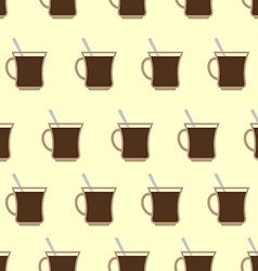 Coffee Mugs Cup seamless pattern Coffee background vector image