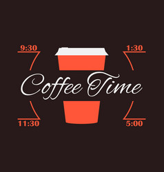 Coffee time cup of coffee infographics poster vector
