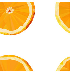 Colored stylized orange fruit seamless pattern vector