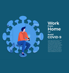 Covid19-19 work from home 04 vector