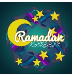 Creative wreath with stars and moon for Islamic vector
