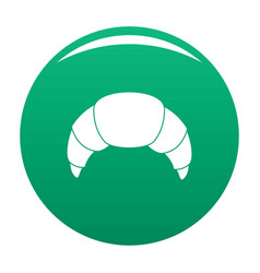 croissant icon green vector image