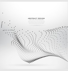 Digital particles wave mesh technology background vector