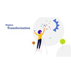 digital transformation flat design background vector image
