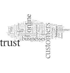 Ecommerce top trust builders vector