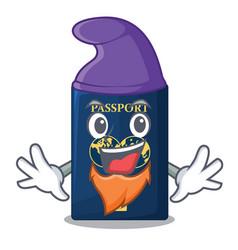 Elf blue passport in the cartoon form vector