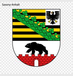 emblem saxony-anhalt province germany vector image