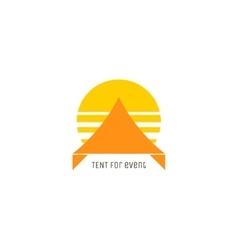 Event tent logo concept vector