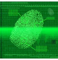 Finger print green vector image