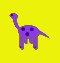 Flat icon design giraffe toy in sticker style vector