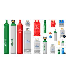 gas cylinders metal tanks vector image