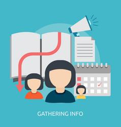 Gathering info conceptual design vector