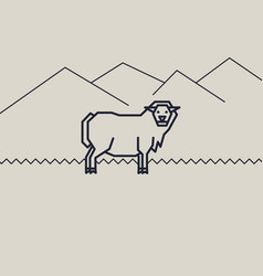 Geometric of a sheep vector