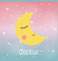 Good night sky background vector