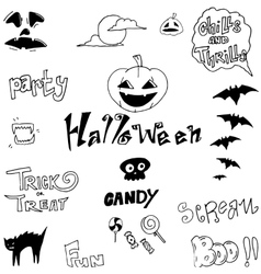 Halloween holiday doodle backgrounds vector