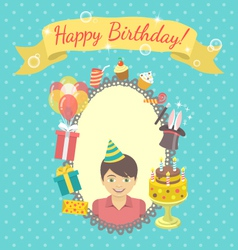 Happy Birthday Card for Boy vector