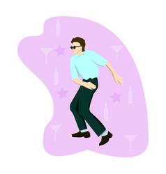 happy chinese dancing - modern cartoon people vector image