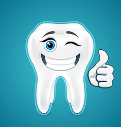 Happy protected human teeth vector image