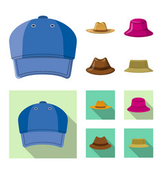 Headgear and cap sign vector