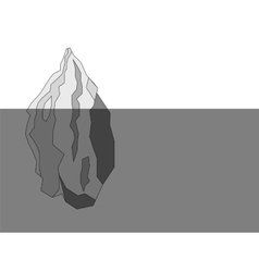 Iceberg black and white polygon background vector image