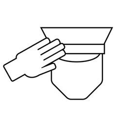 Icon a saluting serviceman vector