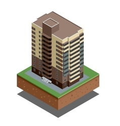 Isometric buildings real estate - city buildings - vector