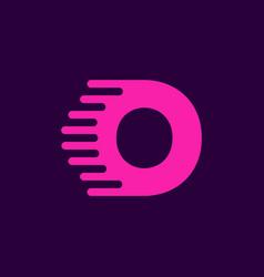 logo letter o speed vector image