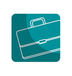 Logotype suitcase to save business documents vector