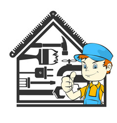 Master repair home vector