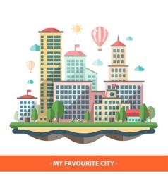 Modern flat design conceptual city vector image
