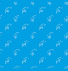 mosquito pattern seamless blue vector image
