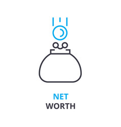 net worth concept outline icon linear sign vector image