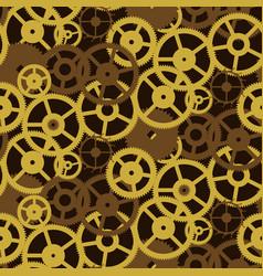 old retro gears vintage mechanism seamless pattern vector image
