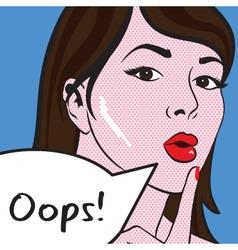 Oops Girl vector image