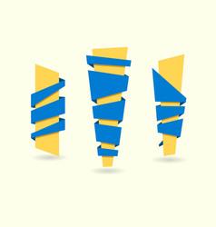 original ribbon set ribbons vector image