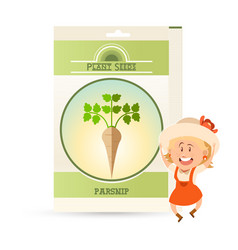 pack of parsnip seeds icon vector image