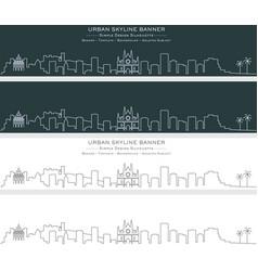 Palma single line skyline banner vector