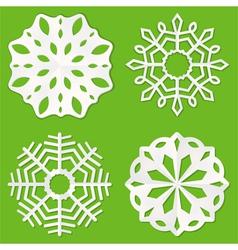 paper cut snowflakes vector image