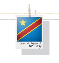 photo of democratic republic of the congo flag vector image