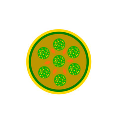 Pizza with salami simple vector