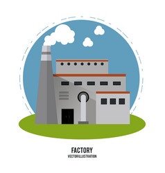 Plant smoke grass circle chimney factory ico vector