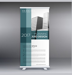Professional roll up standee banner design vector